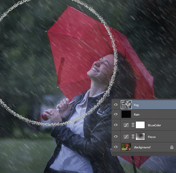 Add a Rain Effect to a Photo in Photoshop 11