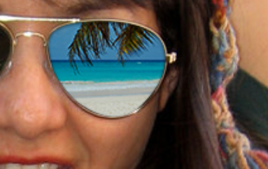 How to Add Reflections To Sunglasses With Photoshop 10c