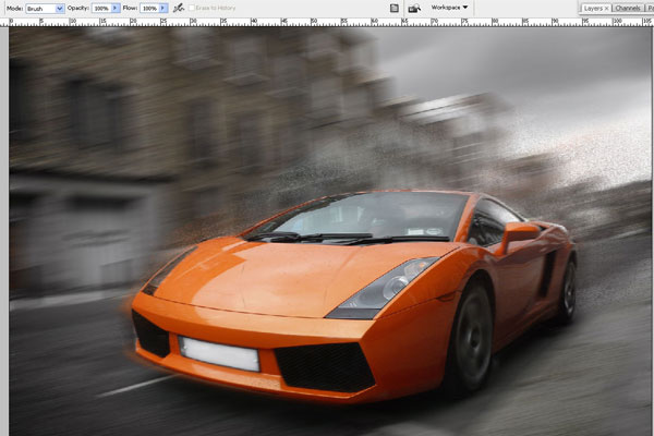 How to Create Effect of Rapid Movement in Photoshop 10