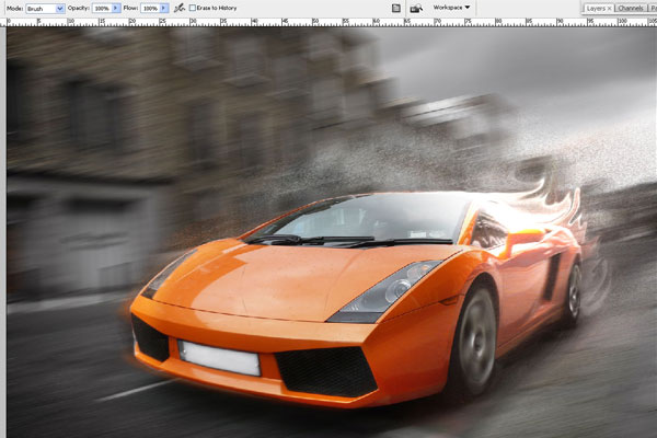 How to Create Effect of Rapid Movement in Photoshop 16