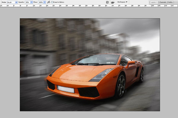 How to Create Effect of Rapid Movement in Photoshop 4