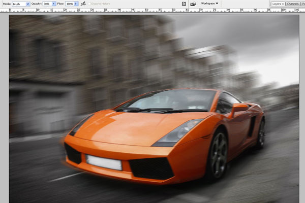How to Create Effect of Rapid Movement in Photoshop 6